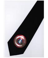 Marvel Captain America Superhero Emblem Logo Cartoon Novelty Fancy Neck Tie - $15.99