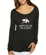Women's Shirt Mother Of Dragons White Print Cool Shirt - $14.94
