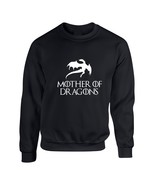 Adult Crewneck Mother Of Dragons White Print Cool Top - $17.94+