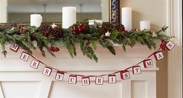 Merry Christmas Blocks Garland 64 Inches image 2