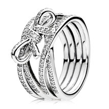 925 Sterling Silver Delicate Sentiments Ring & Clear Zirconia For Women QJCB921 - $29.99