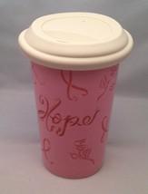 Longaberger Pottery Stoneware Horizon of Hope Travel Cup / Mug - $11.71
