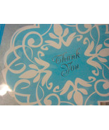 Thank You 10 Notes & Envelopes Round Shape Blue Design by Swell - $6.24