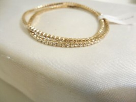 Charter Club Gold Tone Crystal Stretch Bracelet J510 - $8.76