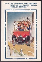 348 Accidents Have Happened Here Vintage Artists Signed Postcard A. Taylor - $3.36