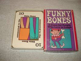 Vintage 1968 Parker Brothers Funny Bones Couples Card Game good Condition - $10.88