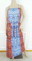 Nwt Two Vince Camuto Marrakesh Mix Chiffon Maxi  Dress XL X-Large Red Bl... - $59.35