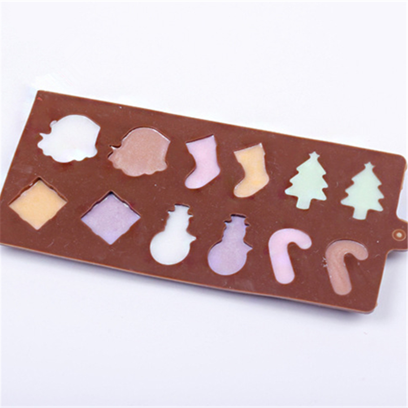 1 Pc Silicone Christmas Series Chocolate Mold Sweet Candy Jelly Fondant Cake Mo^