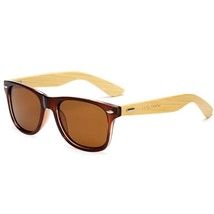 Bamboo sunglasses wooden Long Keeper Polarized Arms for Women Men With Box Brown - $24.49
