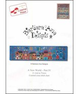 Part4 A Visit To Town A New World series cross stitch Barbara Ana Designs - $10.00
