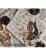 Funky Bird cross stitch chart Barbara Ana Designs - $12.00