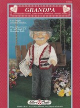 Grandpa, Fibre Craft Doll Clothes Crochet Pattern Booklet FCM341 - $3.95