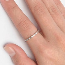 Sterling Silver ring size 11 CZ Round cut Infinity Knuckle Eternity Midi New x10 - $9.68