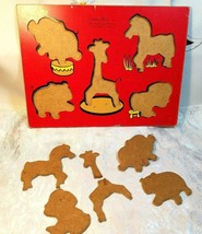 Connor Toy 8406-2 Vintage Wooden Animals of the Zoo Puzzle Pat# 3.615.094 image 2