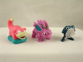 Nintendo Pokemon Action Figure Burger King Nidorino Poliwhirl Slowpoke 1999 - $19.99