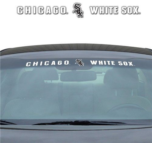 "CHICAGO WHITE SOX 35"" X 4"" WINDSHIELD WINDOW DECAL CAR TRUCK MLB BASEBALL"