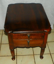 Cherry End Table with Cookie Cutter Corners / Side Table - $299.00