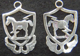 10th Special Forces 1950's beret badge Sterling Silver Charm      - $20.00
