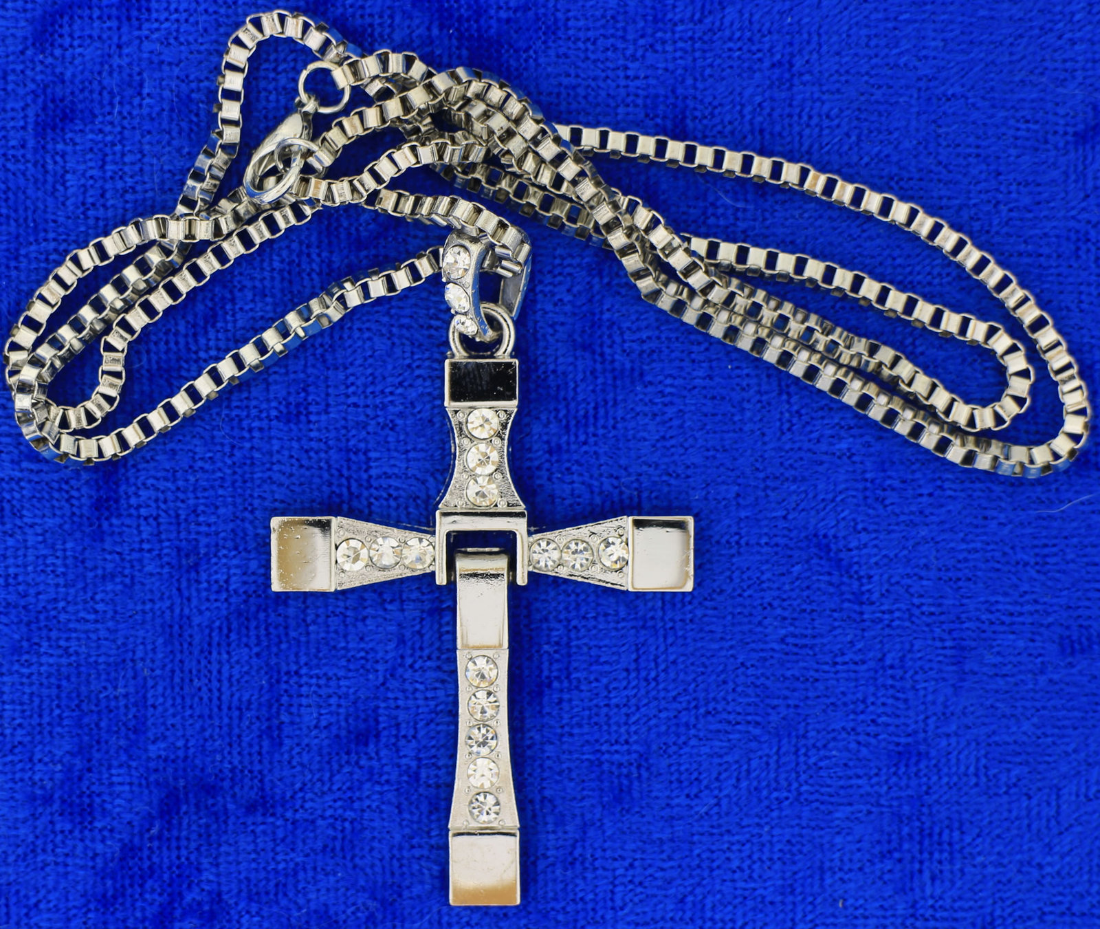 Toretto's Cross Necklace or Keychain Fast and Furious Chain Style Length Choice