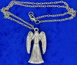 Weeping Angel Necklace or Keychain Dual-Sided Chain Style Length Choice - $4.99+
