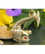 Vintage Koi Fish Goldfish Sea Serpent Brooch Pi... - $17.95