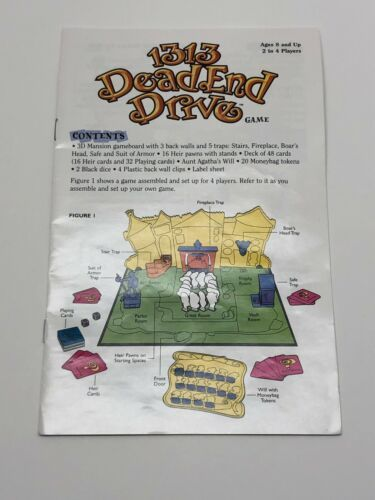 Primary image for 2002 1313 Dead End Drive Board Game Instruction Manual Rules Part Only Hasbro