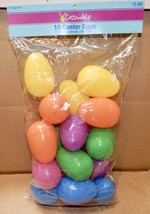 Easter Eggs Plastic For Hunts You Choose Type & Size Dyeable Plastic Too... - $1.79+