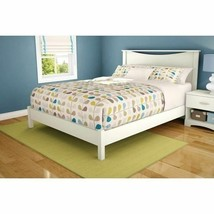 Twin Full Queen Size White Wooden Platform Bed Frame Mattress Foundation... - $221.66+