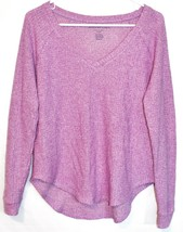 American Eagle Soft & Sexy Plush Fuchsia Purple Long Sleeve Knit Sweater Size XS