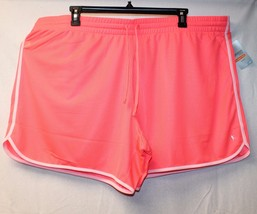 NEW WOMENS PLUS SIZE 4X 26W 28W CORAL PINKY ORANGEY  ACTIVE SUMMER MESH ... - $14.50