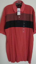 TOMMY HILFIGER MEN'S POLO SHIRT-SIZE XXL-100% COTTON-RED/BLUE-NWT-FREE S... - $29.03