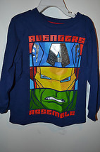 Marvel Advengers  Boys Toddler T Shirt  SIZE 2T or 4T NWT Blue - £9.62 GBP