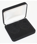 Black Felt COIN DISPLAY GIFT METAL DELUXE PLUSH BOX holds 2-Half Dollars... - €7,22 EUR