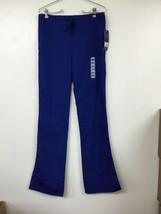 Cherokee Workwear Women's Mid Rise Mod Flare Drawstring Scrub Pants, Blu... - $11.64