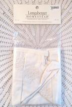 Longaberger Woven Memories Basket Liner Candlewick Cream 2010 New Very Rare - $22.00