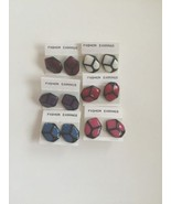 WOMEN'S FASHION EARRINGS RED,BLUE,PINK,PURPLE,WHITE AND DARK RED ~LOT OF 6~ - $14.84
