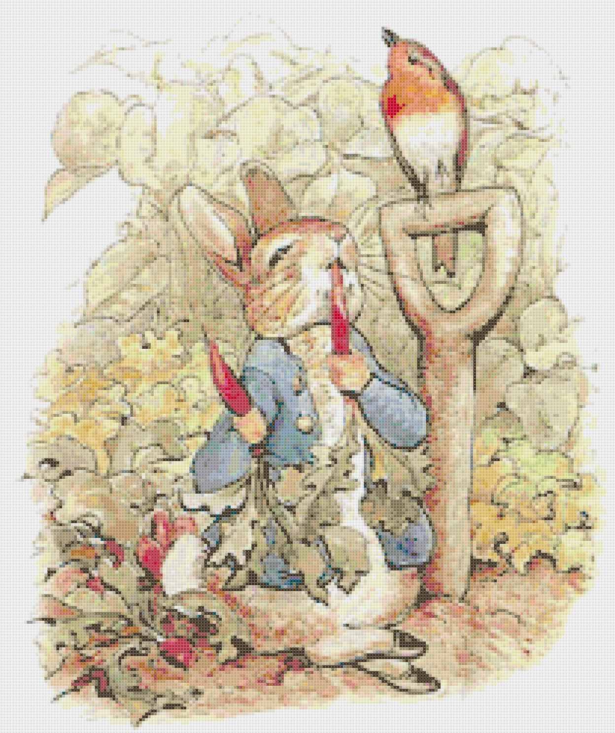 "Counted Cross Stitch  Rabbit by B. potter 14.86"" x 17.71"" - L1142 - $3.99"