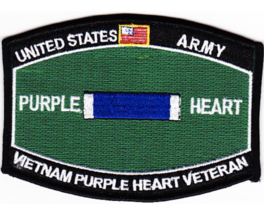 "3.375"" Army Mos Badge Of Military Merit Purple Heart Veteran Embroidered Patch - $23.74"