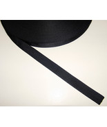 """Nylon Webbing, 1"""" Inch, Black, 36"""" Inch For Sale By-The-Yard from The USA! - $1.09"""