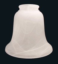 Light Shade White Swirl Frosted 2 1/4 X 5 1/4 Ceiling Fan Chandelier Wall Sconce - $9.95