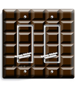 DARK CHOCOLATE BAR CUBES DOUBLE GFCI LIGHT SWIT... - $11.99