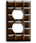 DARK CHOCOLATE BAR CUBES DUPLEX OUTLET WALL PLA... - $9.99