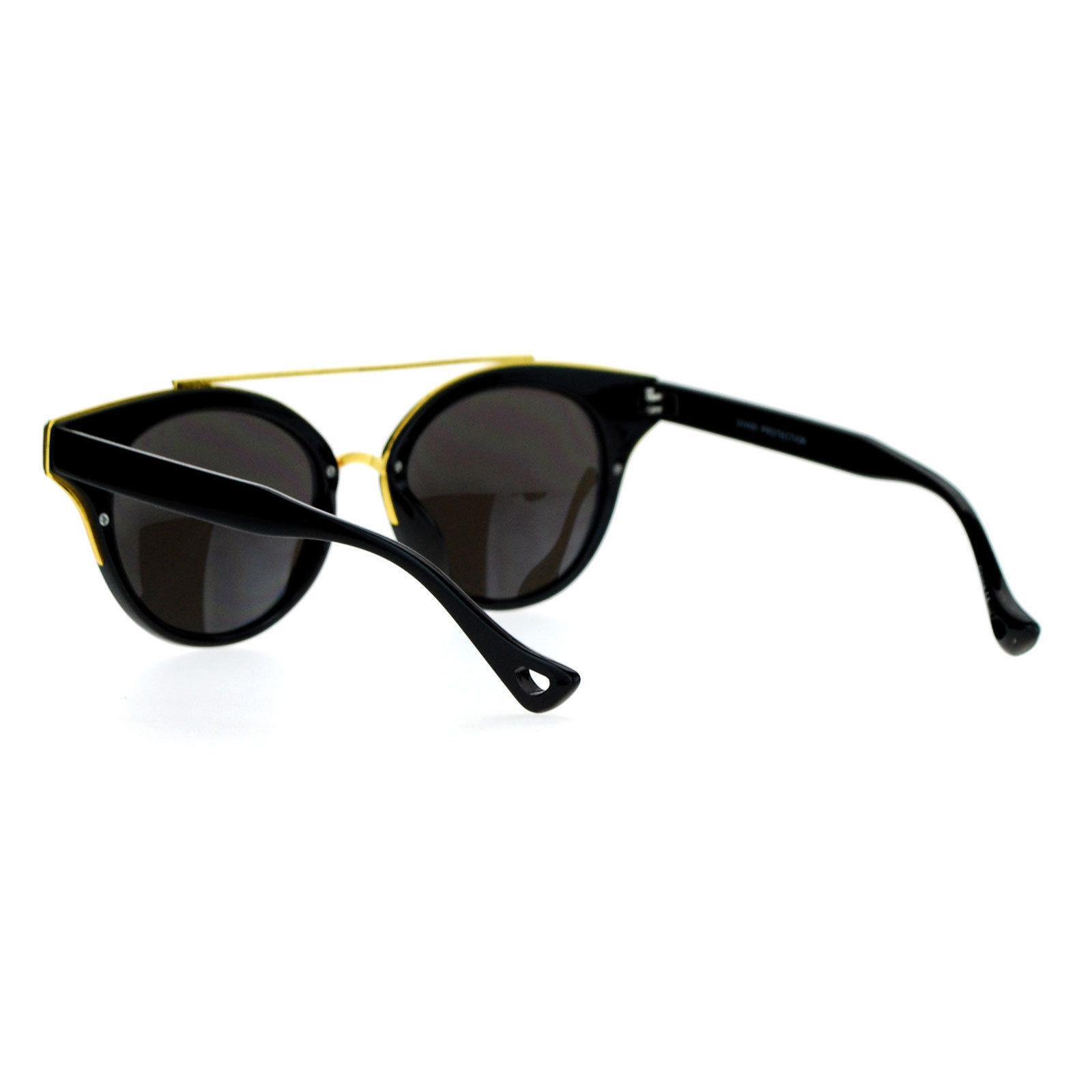 Womens Fashion Sunglasses Top Bar Round Cateye Butterfly Frame Mirror Lens