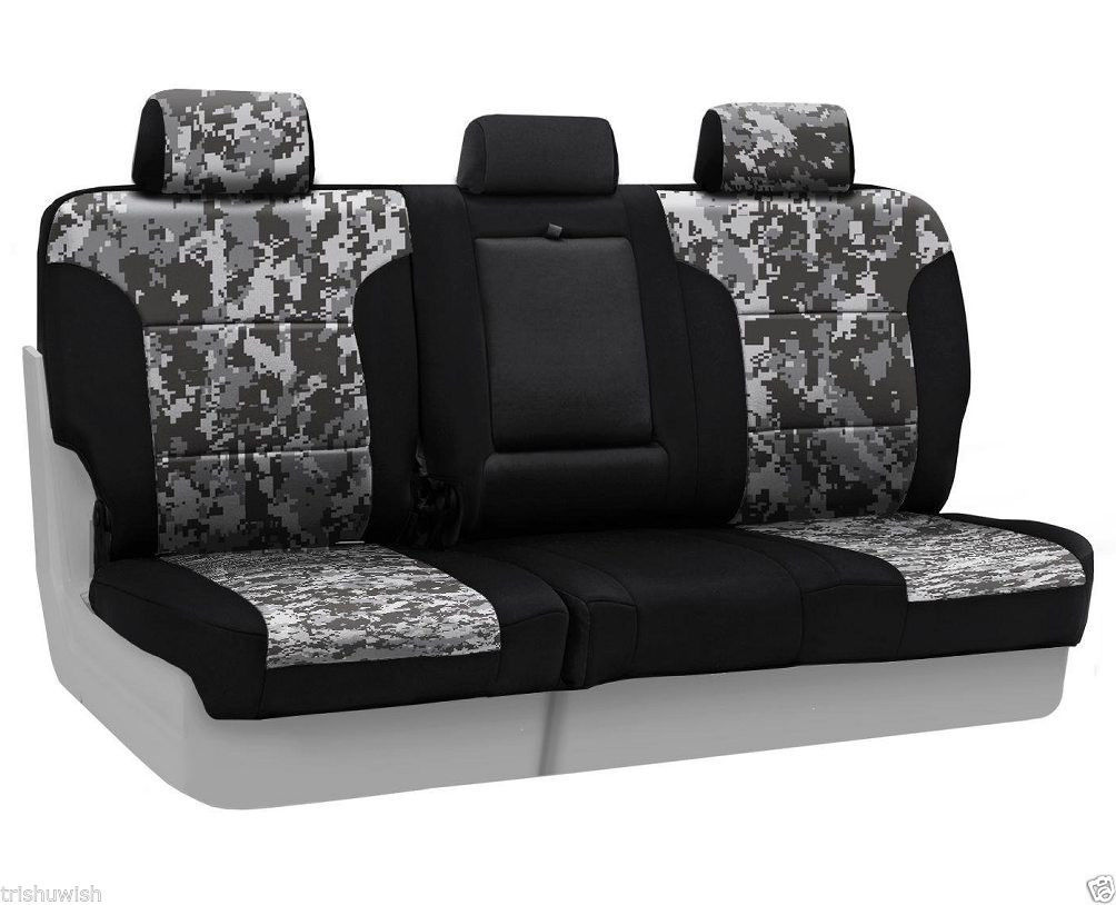 coverking rear custom seat cover digital camo neosupreme for hyundai elantra seat covers. Black Bedroom Furniture Sets. Home Design Ideas