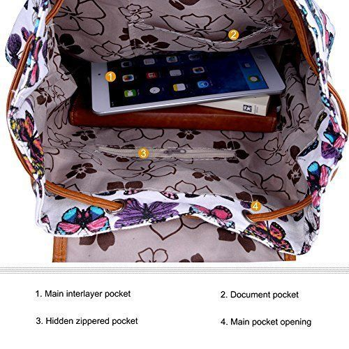 Back To School Womens Backpacks Canvas School Casual Sports Daypack Travel Teen