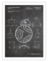 STAR WARS BB-8 DROID INVENTION POSTER CHALKBOARD MAGNETIC SPHERICAL BALA... - $24.95