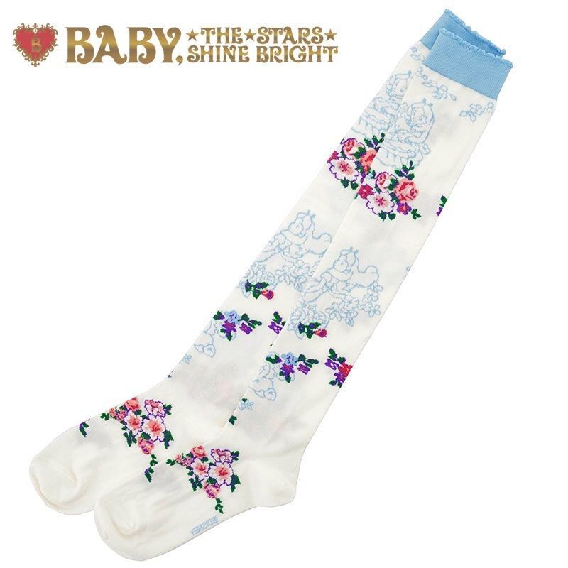 Primary image for Baby The Stars Shine Bright x Disney Store Japan Curious Garden Lolita OTK Socks