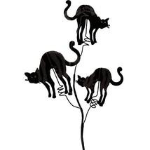 Raz Imports Halloween Decor - Elegant Black Cat Floral Pick 24inch 8pc Set - $49.95