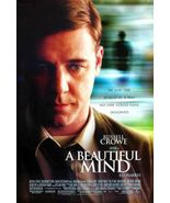 A BEAUTIFUL MIND 27X40 ORIGINAL 2001 D/S MOVIE POSTER- RUSSELL CROWE & E... - $22.00