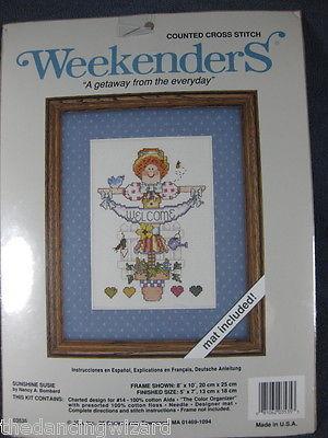 Sunshine Susie Sealed Counted Cross Stitch Kit JCA Nancy Bombard 5x7
